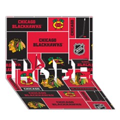 Chicago Blackhawks Nhl Block Fleece Fabric HOPE 3D Greeting Card (7x5)