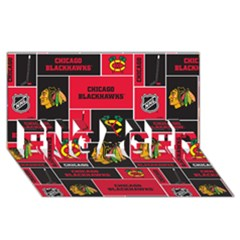 Chicago Blackhawks Nhl Block Fleece Fabric ENGAGED 3D Greeting Card (8x4)