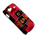 Chicago Blackhawks Nhl Block Fleece Fabric Samsung Galaxy Nexus S i9020 Hardshell Case View5