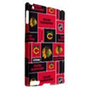 Chicago Blackhawks Nhl Block Fleece Fabric Apple iPad 2 Hardshell Case (Compatible with Smart Cover) View2