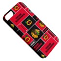 Chicago Blackhawks Nhl Block Fleece Fabric Apple iPhone 5 Classic Hardshell Case View5