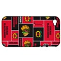 Chicago Blackhawks Nhl Block Fleece Fabric Apple iPhone 4/4S Hardshell Case (PC+Silicone) View1