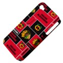 Chicago Blackhawks Nhl Block Fleece Fabric Apple iPhone 4/4S Hardshell Case (PC+Silicone) View4
