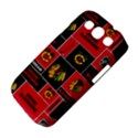Chicago Blackhawks Nhl Block Fleece Fabric Samsung Galaxy S III Classic Hardshell Case (PC+Silicone) View4