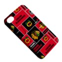 Chicago Blackhawks Nhl Block Fleece Fabric Apple iPhone 4/4S Hardshell Case with Stand View5