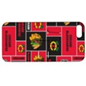 Chicago Blackhawks Nhl Block Fleece Fabric Apple iPhone 5 Hardshell Case with Stand View1