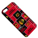 Chicago Blackhawks Nhl Block Fleece Fabric Apple iPhone 5 Hardshell Case with Stand View5