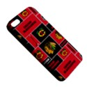 Chicago Blackhawks Nhl Block Fleece Fabric Apple iPhone 5 Premium Hardshell Case View5