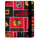 Chicago Blackhawks Nhl Block Fleece Fabric Samsung Galaxy Tab 7  P1000 Flip Case View2