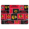 Chicago Blackhawks Nhl Block Fleece Fabric Samsung Galaxy Tab 10.1  P7500 Flip Case View1