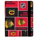 Chicago Blackhawks Nhl Block Fleece Fabric Samsung Galaxy Tab 8.9  P7300 Flip Case View2