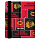 Chicago Blackhawks Nhl Block Fleece Fabric Samsung Galaxy Tab 8.9  P7300 Flip Case View3