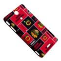 Chicago Blackhawks Nhl Block Fleece Fabric Sony Xperia TX View5
