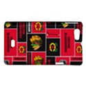 Chicago Blackhawks Nhl Block Fleece Fabric Sony Xperia Miro View1