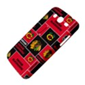 Chicago Blackhawks Nhl Block Fleece Fabric Samsung Galaxy Mega 5.8 I9152 Hardshell Case  View4