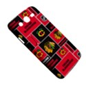 Chicago Blackhawks Nhl Block Fleece Fabric Samsung Galaxy Mega 5.8 I9152 Hardshell Case  View5
