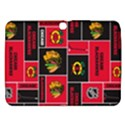 Chicago Blackhawks Nhl Block Fleece Fabric Samsung Galaxy Tab 3 (10.1 ) P5200 Hardshell Case  View1