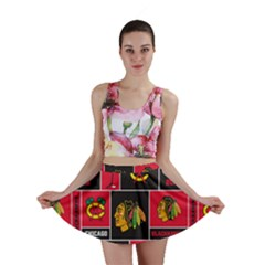 Chicago Blackhawks Nhl Block Fleece Fabric Mini Skirt
