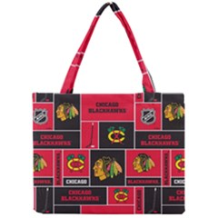 Chicago Blackhawks Nhl Block Fleece Fabric Mini Tote Bag