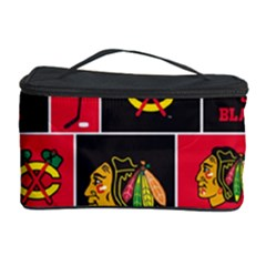 Chicago Blackhawks Nhl Block Fleece Fabric Cosmetic Storage Case