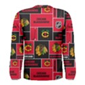Chicago Blackhawks Nhl Block Fleece Fabric Men s Long Sleeve Tee View2