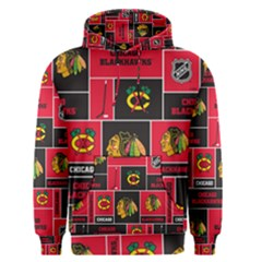 Chicago Blackhawks Nhl Block Fleece Fabric Men s Pullover Hoodie