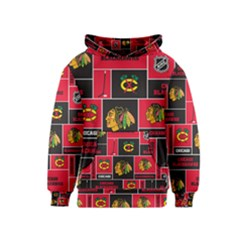 Chicago Blackhawks Nhl Block Fleece Fabric Kids  Pullover Hoodie