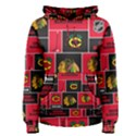 Chicago Blackhawks Nhl Block Fleece Fabric Women s Pullover Hoodie View1