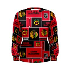 Chicago Blackhawks Nhl Block Fleece Fabric Women s Sweatshirt