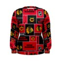 Chicago Blackhawks Nhl Block Fleece Fabric Women s Sweatshirt View1