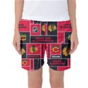 Chicago Blackhawks Nhl Block Fleece Fabric Women s Basketball Shorts View1