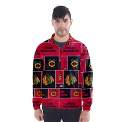 Chicago Blackhawks Nhl Block Fleece Fabric Wind Breaker (men)