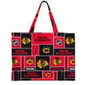 Chicago Blackhawks Nhl Block Fleece Fabric Large Tote Bag View2