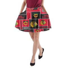 Chicago Blackhawks Nhl Block Fleece Fabric A-Line Pocket Skirt