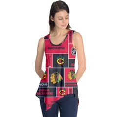 Chicago Blackhawks Nhl Block Fleece Fabric Sleeveless Tunic