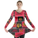 Chicago Blackhawks Nhl Block Fleece Fabric Long Sleeve Tunic  View1