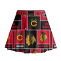 Chicago Blackhawks Nhl Block Fleece Fabric Mini Flare Skirt View1