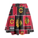 Chicago Blackhawks Nhl Block Fleece Fabric High Waist Skirt View1