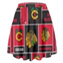 Chicago Blackhawks Nhl Block Fleece Fabric High Waist Skirt View2