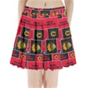 Chicago Blackhawks Nhl Block Fleece Fabric Pleated Mini Skirt View1