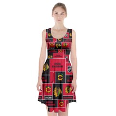Chicago Blackhawks Nhl Block Fleece Fabric Racerback Midi Dress
