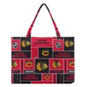 Chicago Blackhawks Nhl Block Fleece Fabric Medium Tote Bag View1