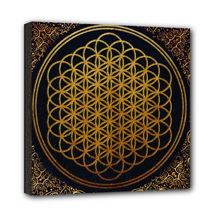 Bring Me The Horizon Cover Album Gold Mini Canvas 8  x 8