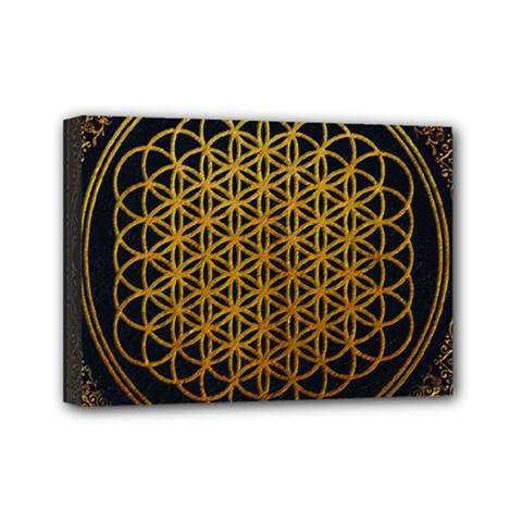 Bring Me The Horizon Cover Album Gold Mini Canvas 7  x 5
