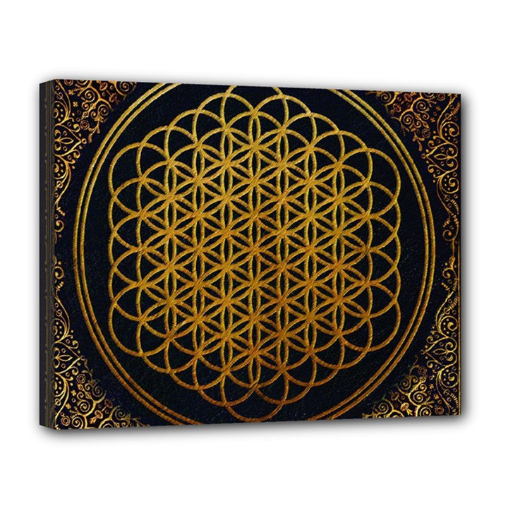 Bring Me The Horizon Cover Album Gold Canvas 14  x 11