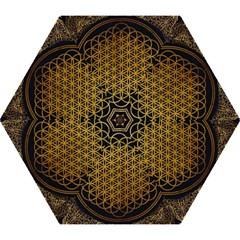 Bring Me The Horizon Cover Album Gold Mini Folding Umbrellas