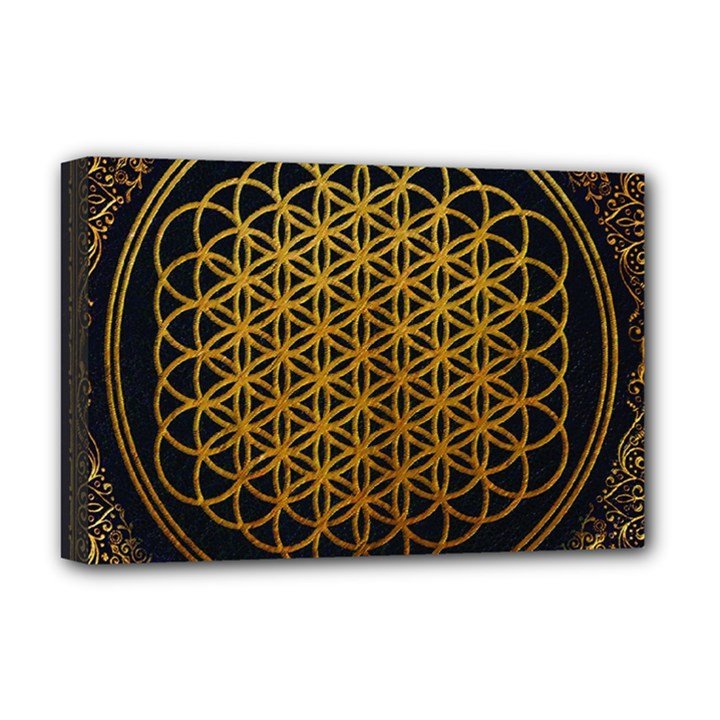 Bring Me The Horizon Cover Album Gold Deluxe Canvas 18  x 12