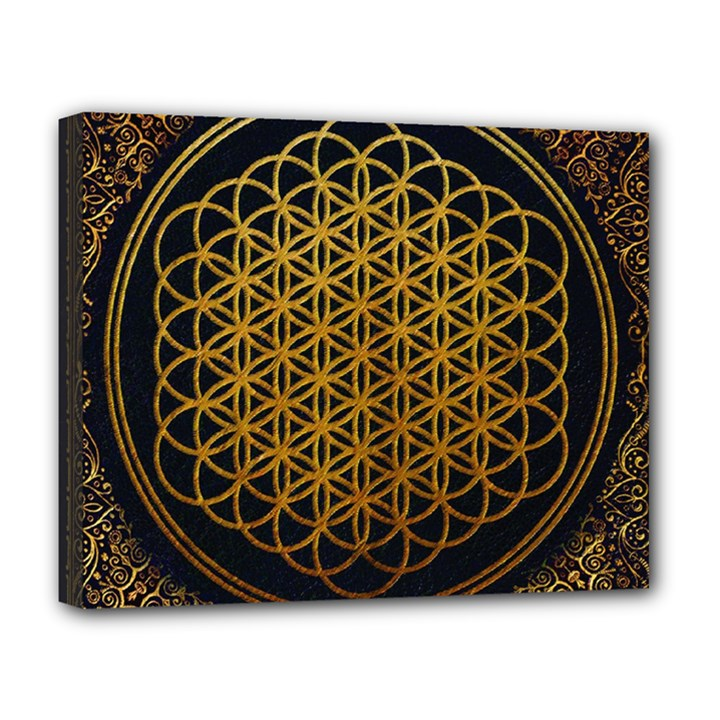 Bring Me The Horizon Cover Album Gold Deluxe Canvas 20  x 16