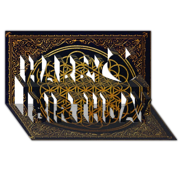 Bring Me The Horizon Cover Album Gold Happy Birthday 3D Greeting Card (8x4)