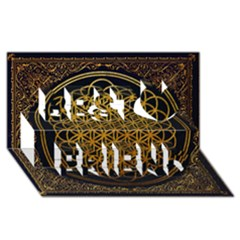 Bring Me The Horizon Cover Album Gold Best Friends 3d Greeting Card (8x4)